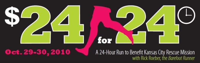 24 hour barefoot running